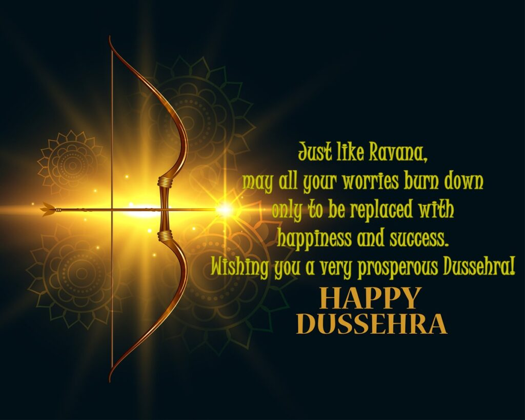 Dussehra 2020 Greetings- Like the victory of the good of Lord Rama